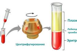 Схема обработки крови на гематокрит