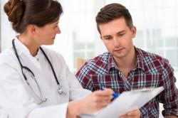 Прием врача при подозрении на сифилис